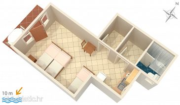 Studio flat AS-2583-a - Apartments Uvala Jedra (Hvar) - 2583