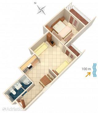 Apartment A-2593-b - Apartments Podgora (Makarska) - 2593