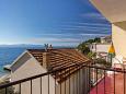 Podgora, Balcony 2 u smještaju tipa apartment, s pogledom na more i WIFI.