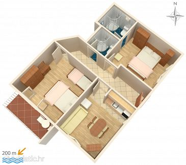 Apartment A-2599-b - Apartments Makarska (Makarska) - 2599