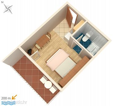 Studio flat AS-2599-b - Apartments Makarska (Makarska) - 2599