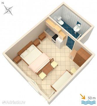 Studio flat AS-2603-b - Apartments and Rooms Živogošće - Mala Duba (Makarska) - 2603