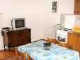 Baška Voda, Dining room u smještaju tipa apartment, dopusteni kucni ljubimci i WIFI.