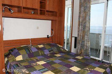 Podgora, Bedroom u smještaju tipa room, dostupna klima i WIFI.