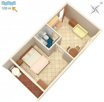 Studio flat AS-2617-c - Apartments Podaca (Makarska) - 2617