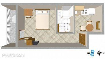 Studio flat AS-2622-b - Apartments Igrane (Makarska) - 2622