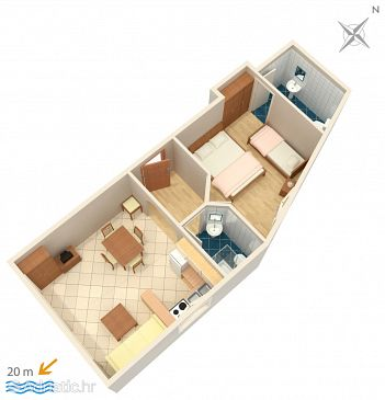 Apartment A-2623-c - Apartments and Rooms Podgora (Makarska) - 2623