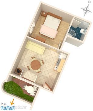 Apartment A-2625-a - Apartments Zaostrog (Makarska) - 2625