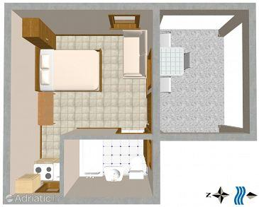 Studio flat AS-2634-a - Apartments Podaca (Makarska) - 2634