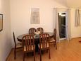Tučepi, Dining room u smještaju tipa apartment, dostupna klima, dopusteni kucni ljubimci i WIFI.