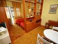 Zaostrog, Dining room u smještaju tipa apartment, dopusteni kucni ljubimci i WIFI.