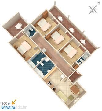 Apartment A-2665-a - Apartments Brela (Makarska) - 2665