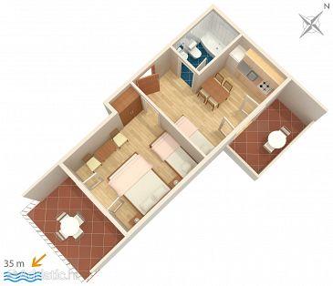 Apartment A-2666-a - Apartments Tučepi (Makarska) - 2666