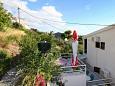 Bratuš, Shared terrace u smještaju tipa studio-apartment, s pogledom na more i WIFI.