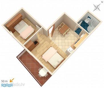 Apartment A-2673-a - Apartments Promajna (Makarska) - 2673