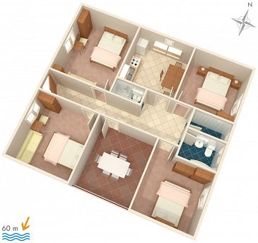 Apartment A-268-a - Apartments Orebić (Pelješac) - 268