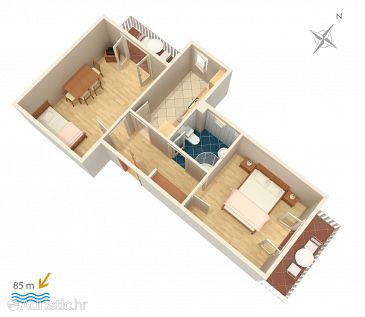 Apartment A-2681-b - Apartments and Rooms Slano (Dubrovnik) - 2681