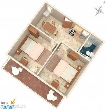 Apartment A-2684-b - Apartments Igrane (Makarska) - 2684