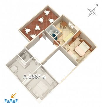 Apartment A-2687-b - Apartments and Rooms Slano (Dubrovnik) - 2687