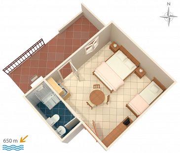 Studio AS-2692-c - Apartamenty Makarska (Makarska) - 2692