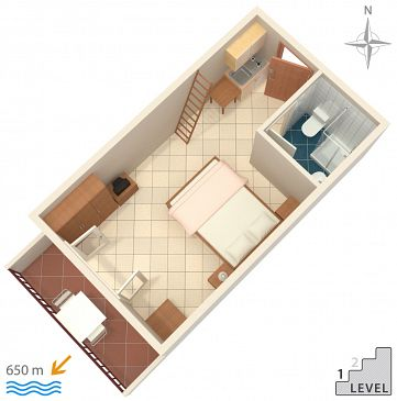 Studio AS-2692-d - Apartamenty Makarska (Makarska) - 2692