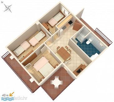 Apartment A-2695-b - Apartments Podaca (Makarska) - 2695