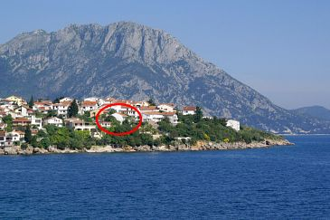 Property Podaca (Makarska) - Accommodation 2711 - Apartments near sea with pebble beach.