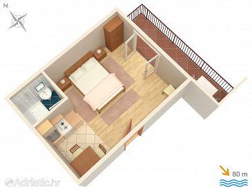 Studio flat AS-2713-c - Apartments Brela (Makarska) - 2713
