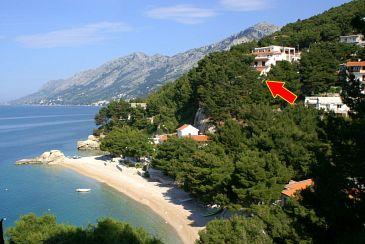 Property Brela (Makarska) - Accommodation 2713 - Apartments near sea with pebble beach.