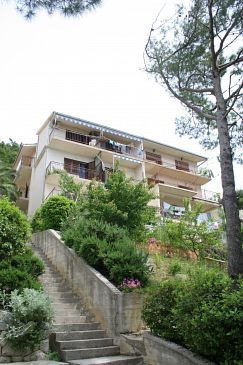 Property Brela (Makarska) - Accommodation 2718 - Apartments near sea with pebble beach.