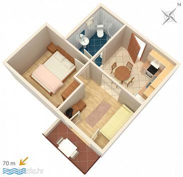 Apartment A-2720-b - Apartments Baška Voda (Makarska) - 2720