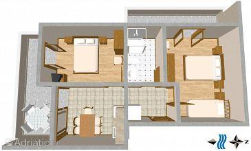 Apartment A-2736-b - Apartments Mimice (Omiš) - 2736