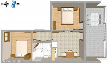 Apartment A-2737-c - Apartments Duće (Omiš) - 2737