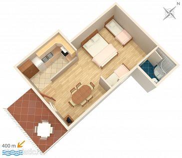 Studio flat AS-2760-a - Apartments Omiš (Omiš) - 2760