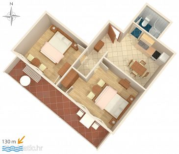 Apartment A-2765-b - Apartments Stanići (Omiš) - 2765
