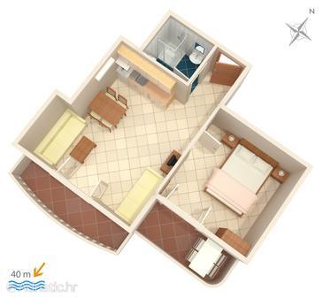 Apartment A-2767-f - Apartments Duće (Omiš) - 2767