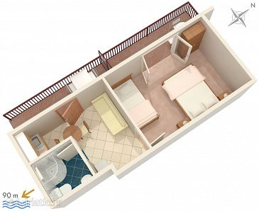 Apartment A-2783-c - Apartments Podaca (Makarska) - 2783
