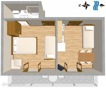 Apartment A-2787-c - Apartments Podgora (Makarska) - 2787
