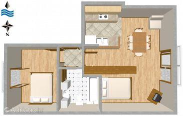 Apartment A-2787-d - Apartments Podgora (Makarska) - 2787