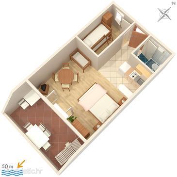 Apartment A-2808-a - Apartments Sumpetar (Omiš) - 2808