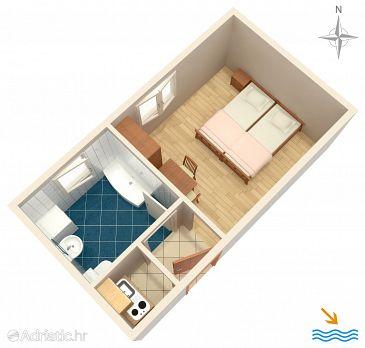 Studio flat AS-2810-b - Apartments Orij (Omiš) - 2810