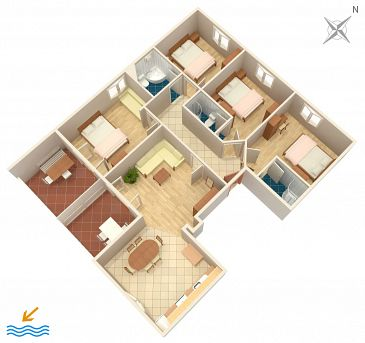 Apartament A-2819-d - Apartamenty Stanići (Omiš) - 2819