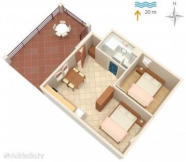 Apartment A-284-c - Apartments Luka Dubrava (Pelješac) - 284