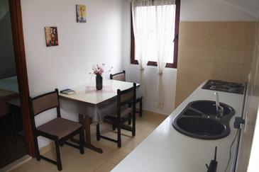 Sutivan, Jadalnia u smještaju tipa apartment, dostupna klima, dopusteni kucni ljubimci i WIFI.