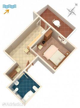Splitska, Plan u smještaju tipa apartment, WIFI.