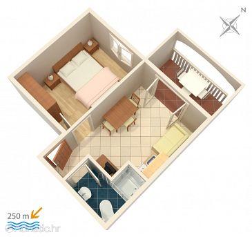 Apartmán A-2873-a - Ubytování Bol (Brač) - 2873