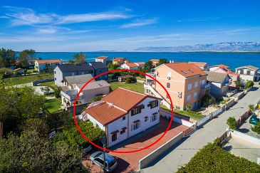 Property Nin (Zadar) - Accommodation 290 - Apartments near sea with sandy beach.