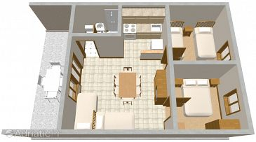 Apartment A-291-a - Apartments Vir (Vir) - 291