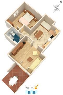 Apartment A-2921-b - Apartments Bol (Brač) - 2921