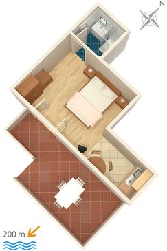 Studio AS-2921-b - Apartamenty Bol (Brač) - 2921